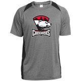 Charlotte Checkers Adult Heather Colorblock Poly T-Shirt