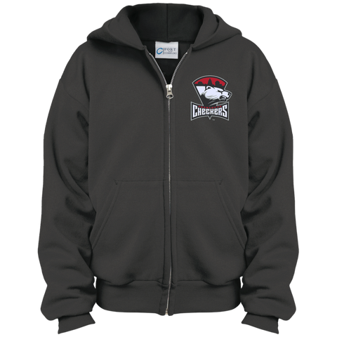Charlotte Checkers Youth Embroidered Full Zip Hoodie