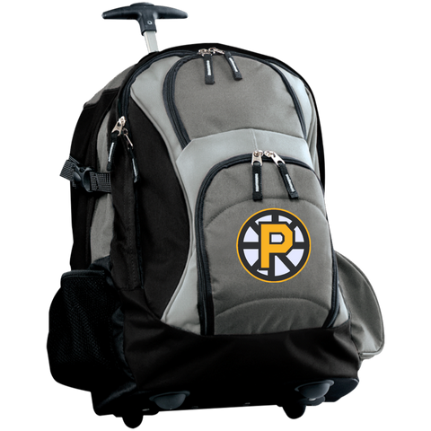 Providence Bruins Embroidered Wheeled Backpack