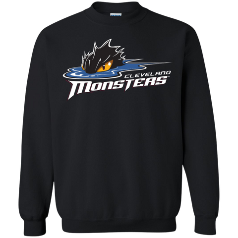 Cleveland Monsters Primary Logo Adult Crewneck Pullover Sweatshirt