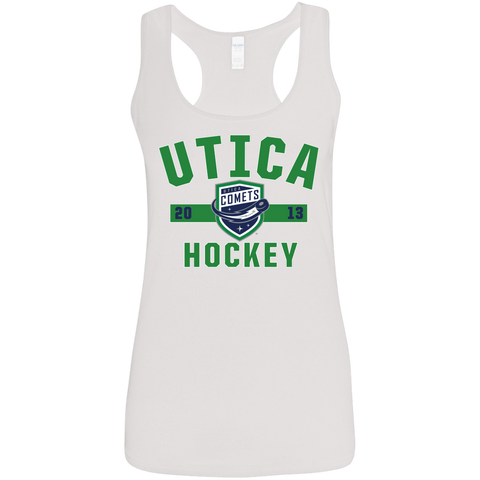 Utica Comets Ladies' Established Softstyle Racerback Tank