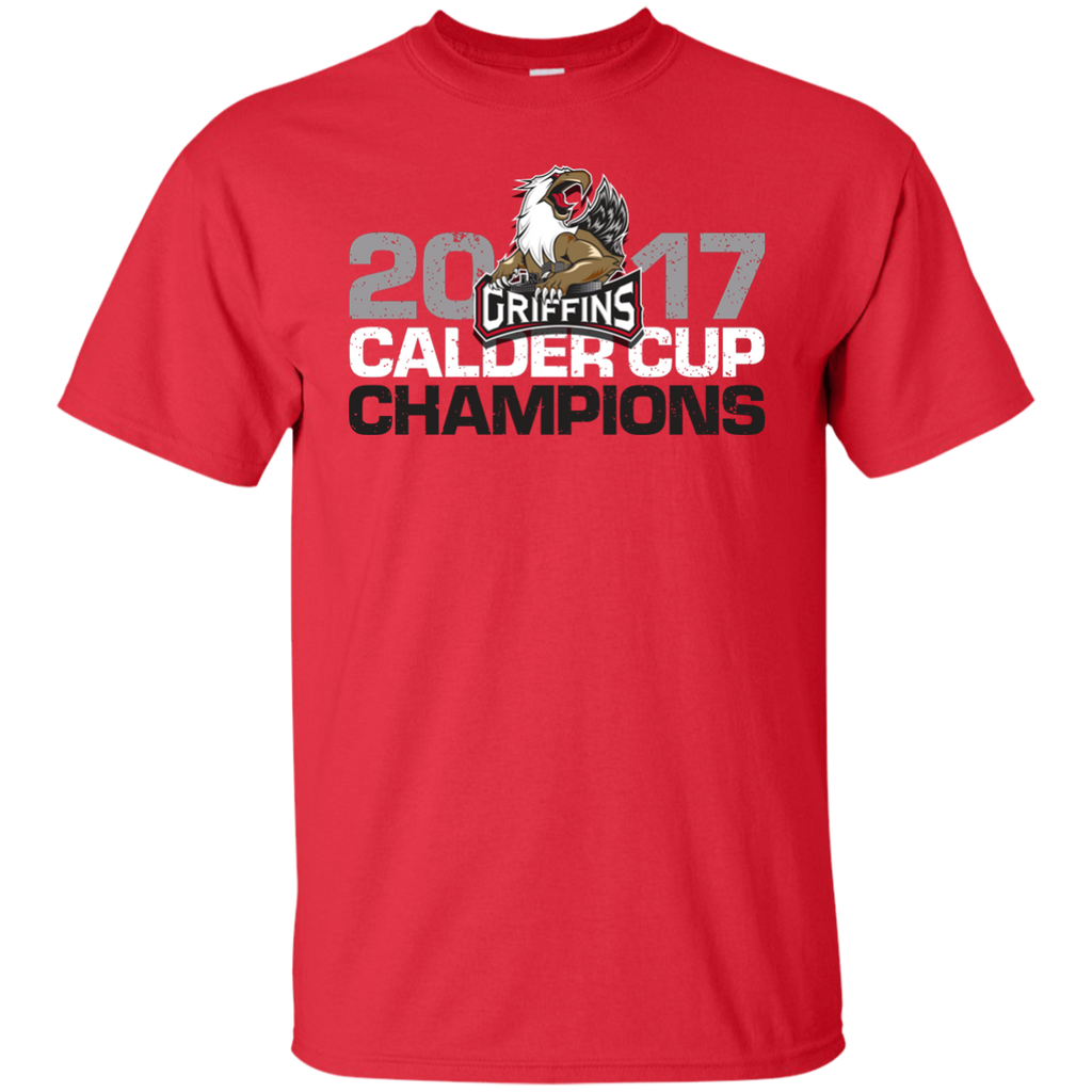 Grand Rapids Griffins 2017 Calder Cup Champions Distressed Youth Short Sleeve T-Shirt (red)