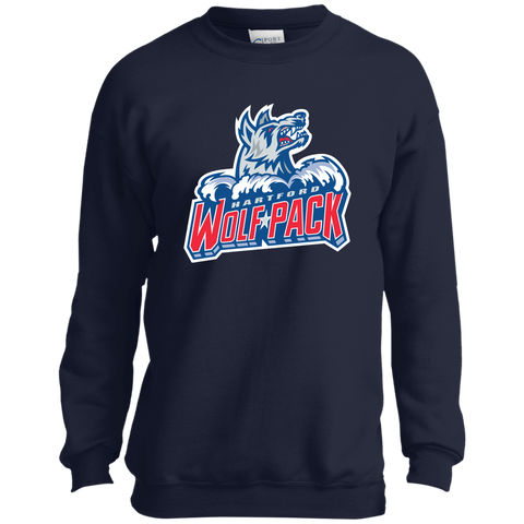 Hartford Wolf Pack Youth Crewneck Sweatshirt