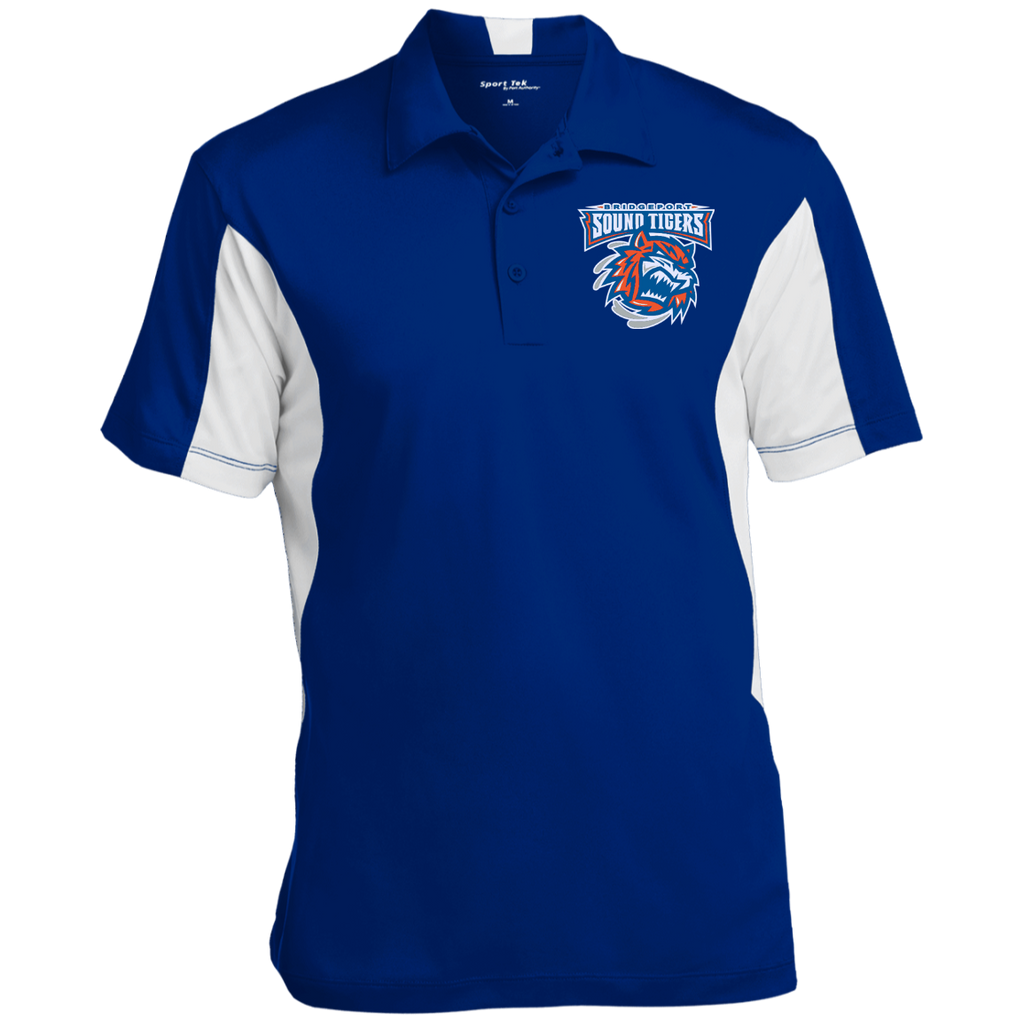 Bridgeport Sound Tigers Men's Colorblock Performance Polo