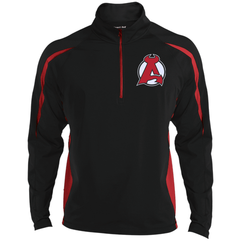 Albany Devils Mens Sport Wicking Colorblock Half-Zip