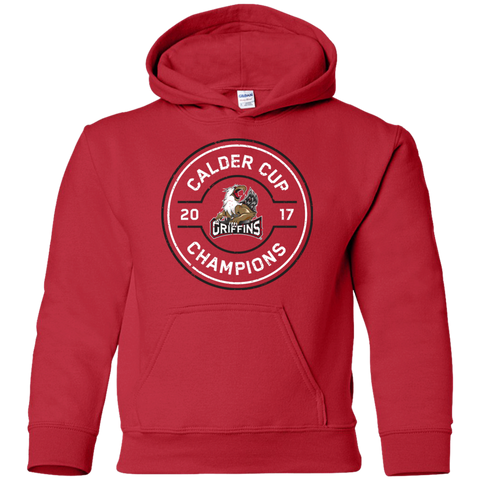 Grand Rapids Griffins 2017 Calder Cup Champions Faceoff Youth Pullover Hoodie (red)