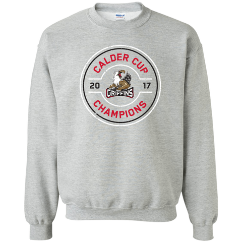 Grand Rapids Griffins 2017 Calder Cup Champions Adult Faceoff Crewneck Pullover Sweatshirt