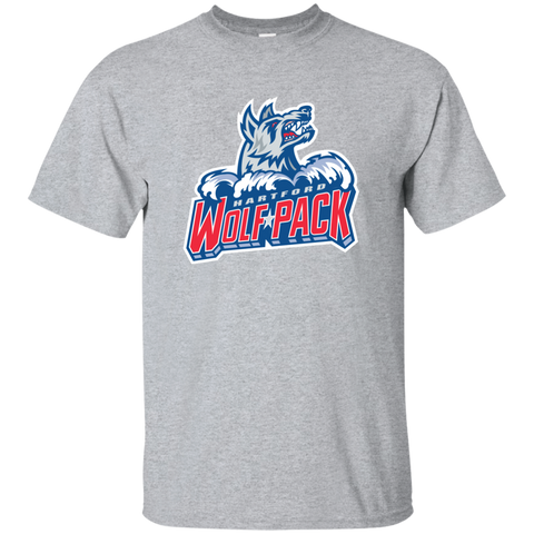 Hartford Wolf Pack Primary Logo Youth Short Sleeve T-Shirt