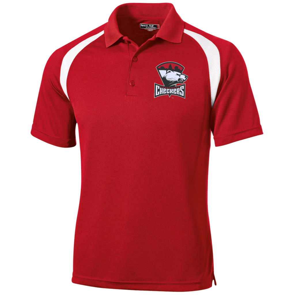 Charlotte Checkers Moisture-Wicking Tag-Free Golf Shirt