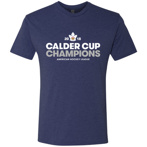 Toronto Marlies 2018 Calder Cup Champions Crown Next Level Men's Triblend T-Shirt