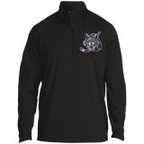 Chicago Wolves Adult Half Zip Raglan Performance Pullover