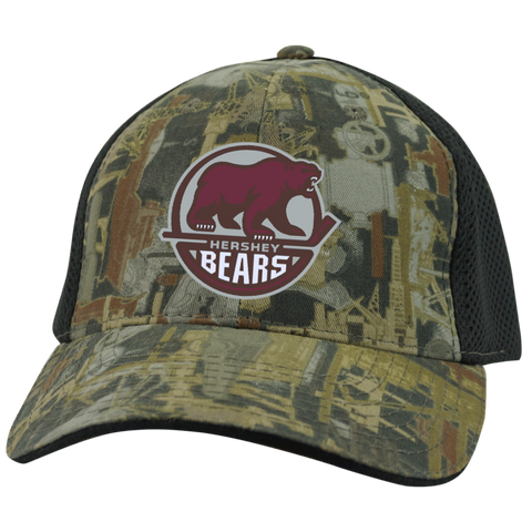 Hershey Bears Camo Cap with Mesh