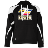 Colorado Eagles Primary Logo Adult Colorblock Hoodie