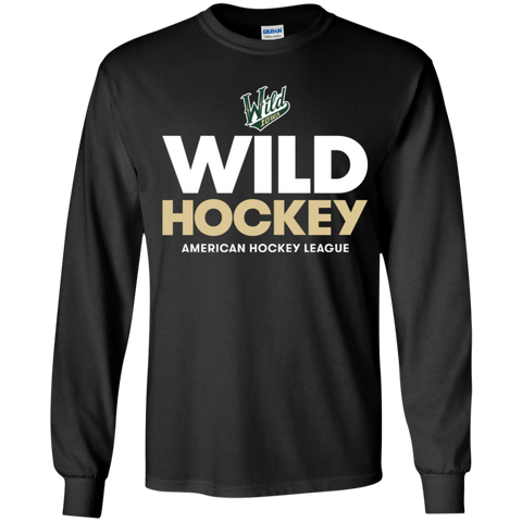 Iowa Wild Hockey Youth Long Sleeve T-Shirt