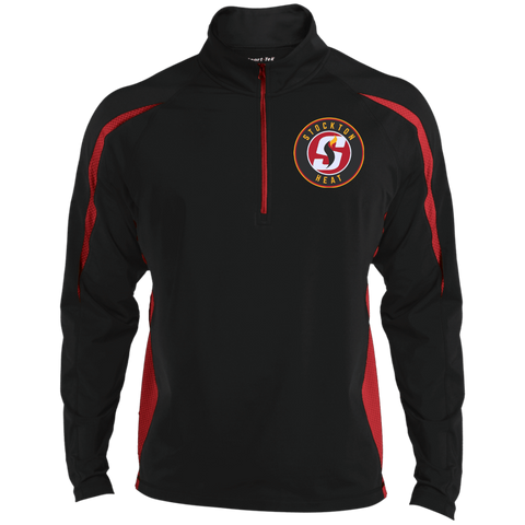 Stockton Heat Mens Sport Wicking Colorblock Half-Zip