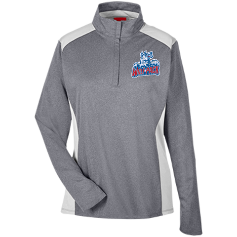 Hartford Wolf Pack Team 365 Ladies Heather Performance Lightweight 1/4 Zip