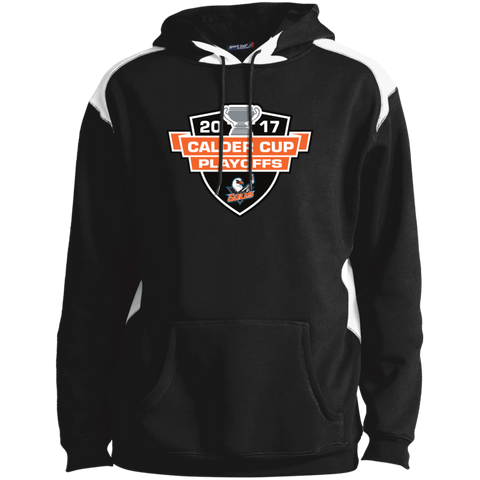 San Diego Gulls Adult 2017 Calder Cup Playoffs Printed Shoulder Colorblock Pullover Hoodie