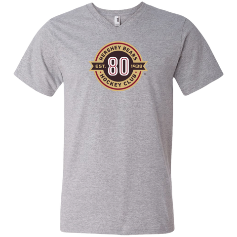 Hershey Bears 80th Anniversary V-Neck T-Shirt