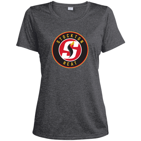 Stockton Heat Ladies Heather Dri-Fit Moisture-Wicking T-Shirt (sidewalk sale)