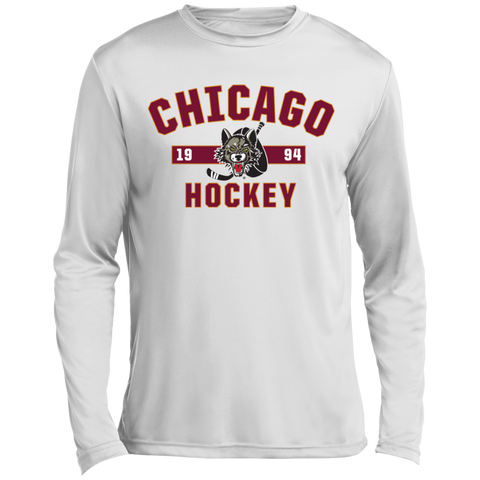 Chicago Wolves Adult Established Long Sleeve Moisture Absorbing T-Shirt