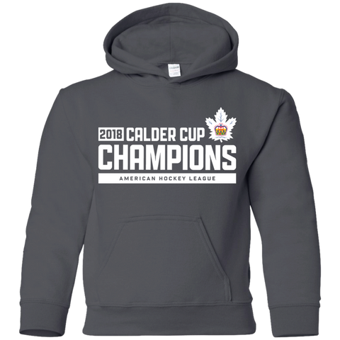 Toronto Marlies 2018 Calder Cup Champions Youth Raise the Bar Pullover Hoodie