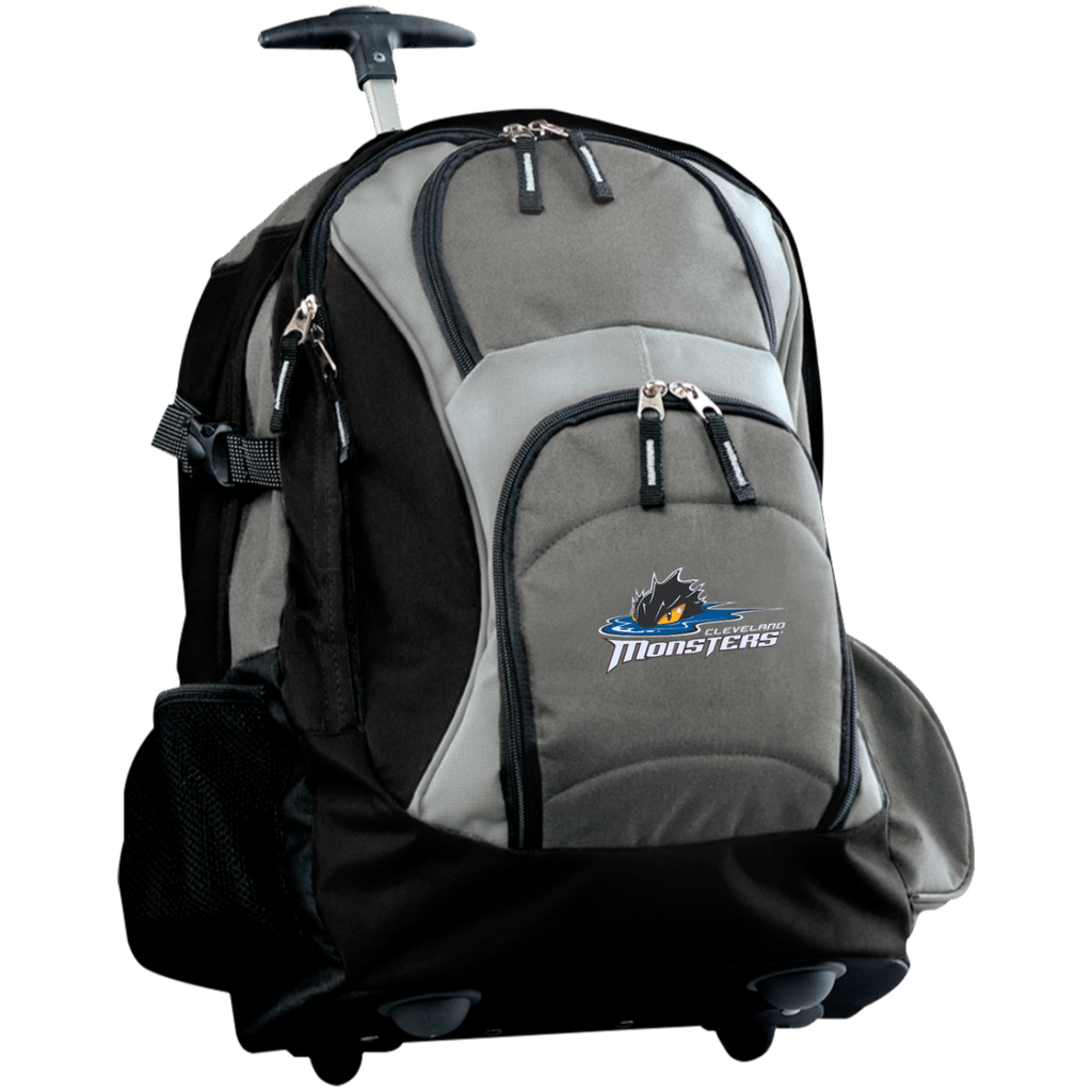 Cleveland Monsters Embroidered Wheeled Backpack