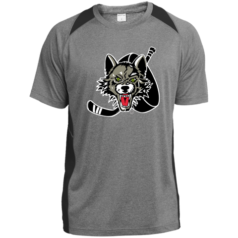 Chicago Wolves Heather Colorblock Poly T-Shirt