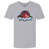 Rockford IceHogs Primary Logo Next Level Men's Premium Fitted SS V-Neck