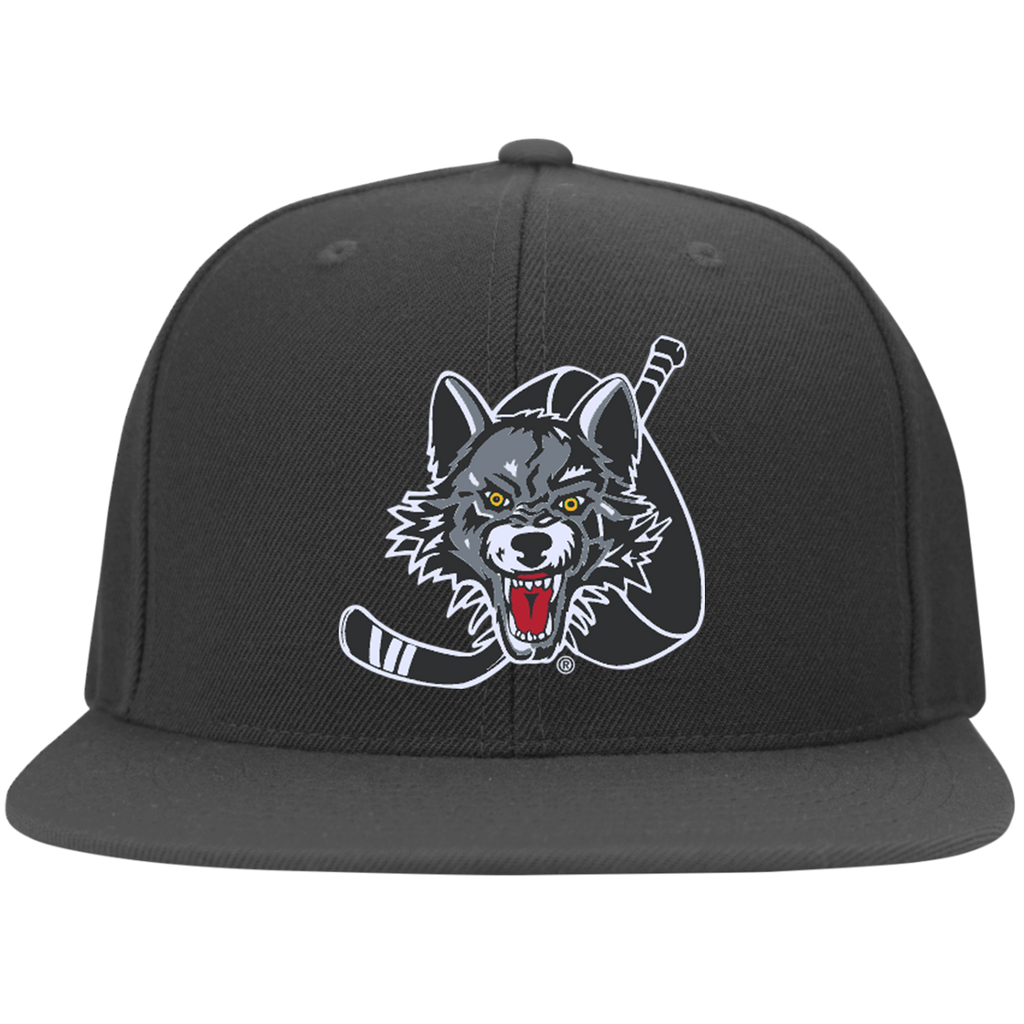 Chicago Wolves Flat Bill Twill Flexfit Cap