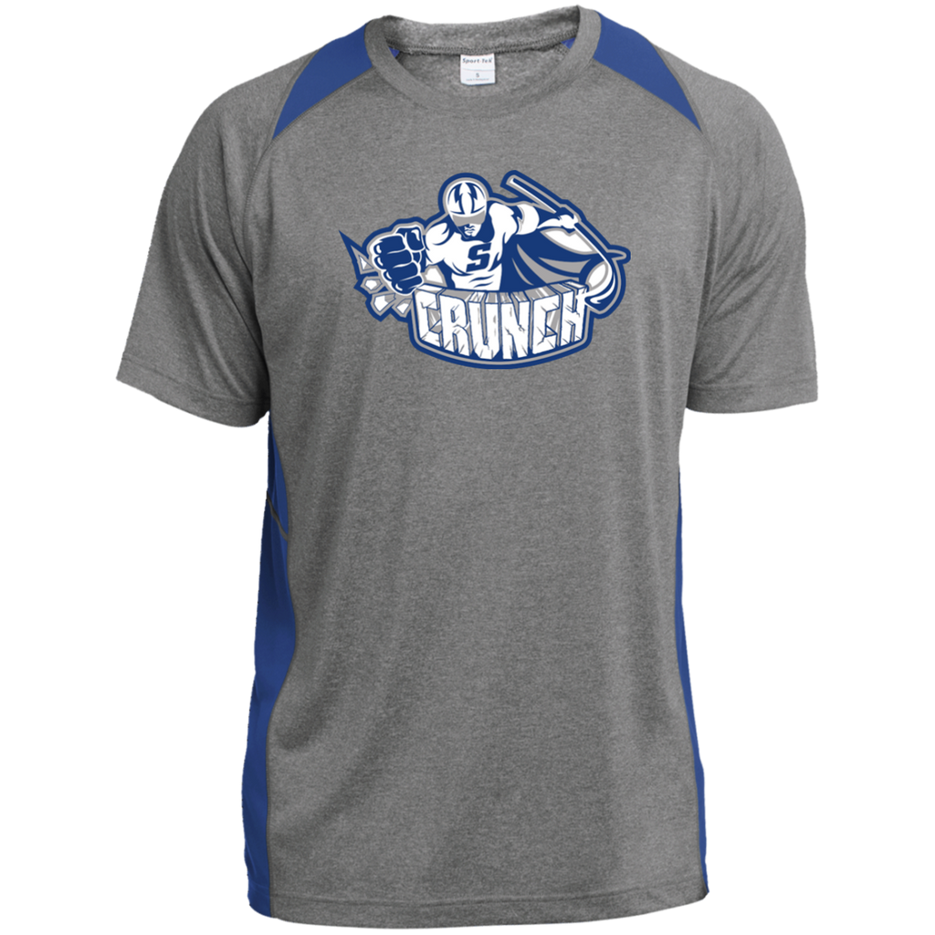 Syracuse Crunch Adult Primary Logo Heather Colorblock Poly T-Shirt