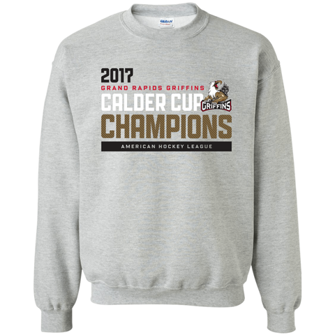 Grand Rapids Griffins 2017 Calder Cup Champions Adult Athletic Crewneck Pullover Sweatshirt