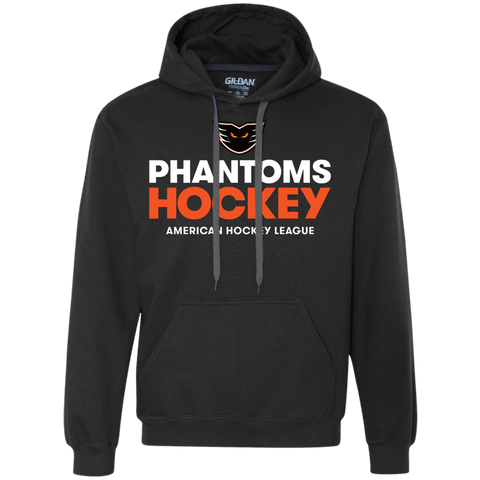Lehigh Valley Phantoms Hockey Adult Heavyweight Pullover Fleece Sweatshirt (Black)