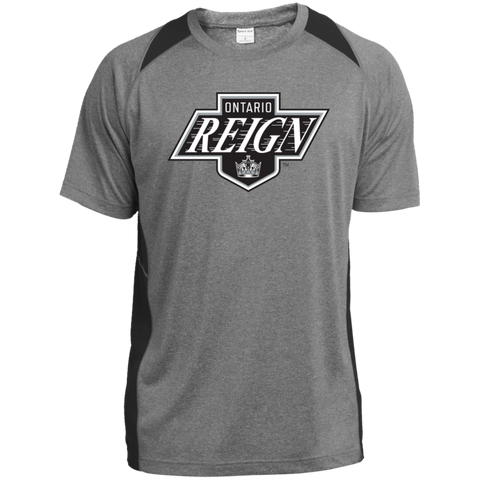 Ontario Reign Primary Logo Adult Heather Colorblock Poly T-Shirt