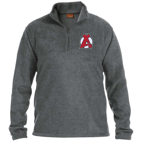 Albany Devils Adult Embroidered 1/4 Zip Fleece Pullover
