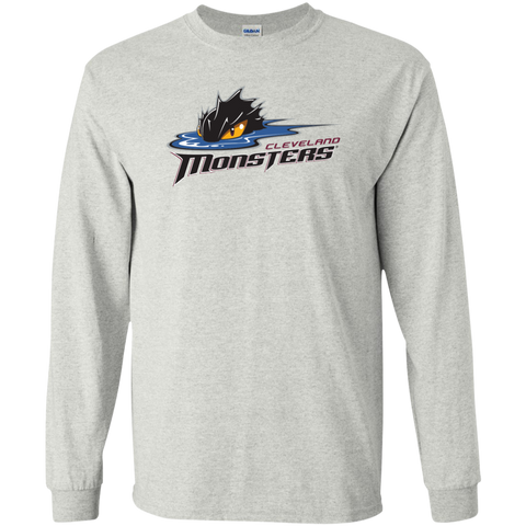 Cleveland Monsters Primary Logo Adult Long Sleeve T-Shirt