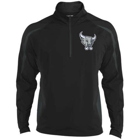 San Antonio Rampage Mens Sport Wicking Colorblock Half-Zip
