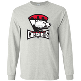 Charlotte Checkers Primary Logo Adult Long Sleeve T-Shirt
