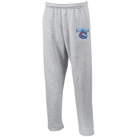 Bridgeport Sound Tigers Adult Open Bottom Sweatpants with Pockets