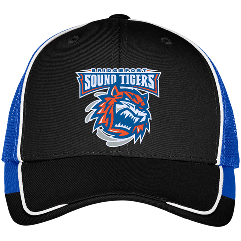 Bridgeport Sound Tigers Colorblock Mesh Back Cap