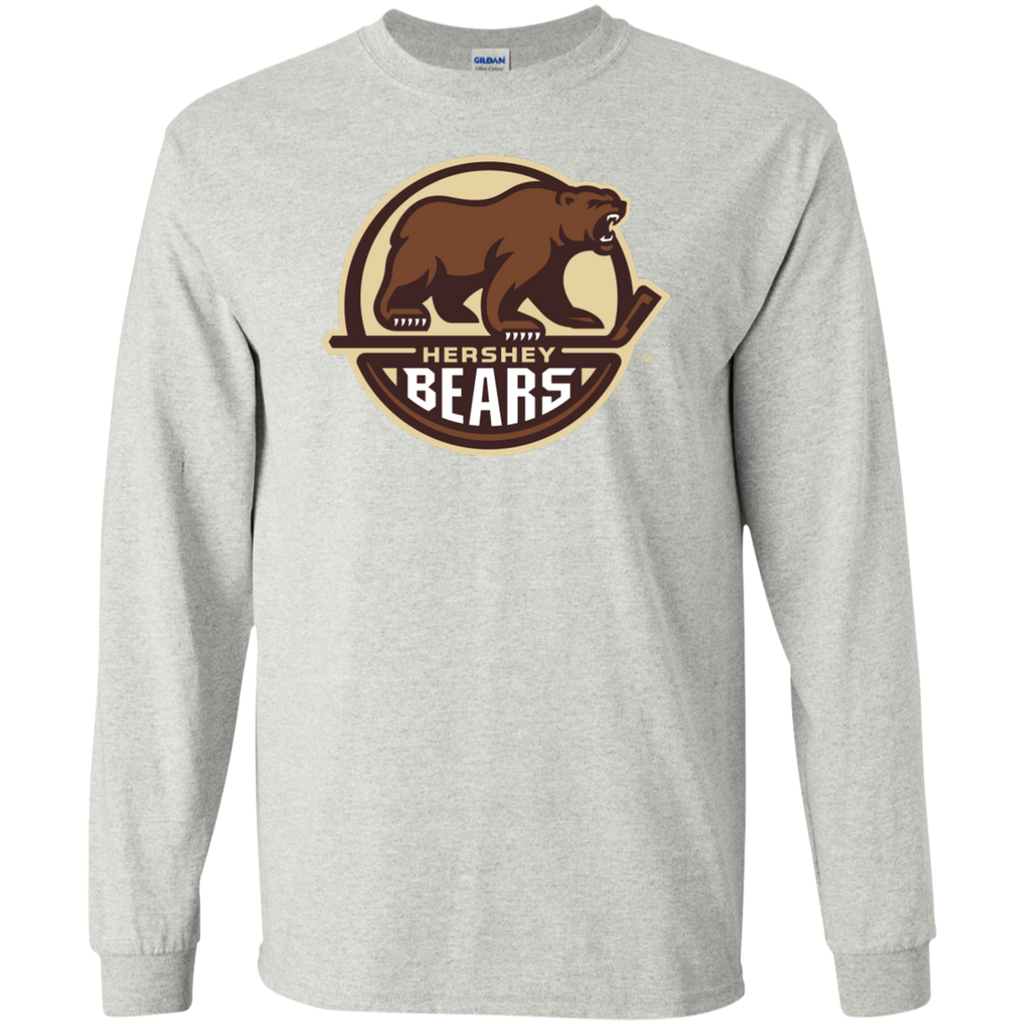 Hershey Bears Primary Logo Adult Long Sleeve T-Shirt