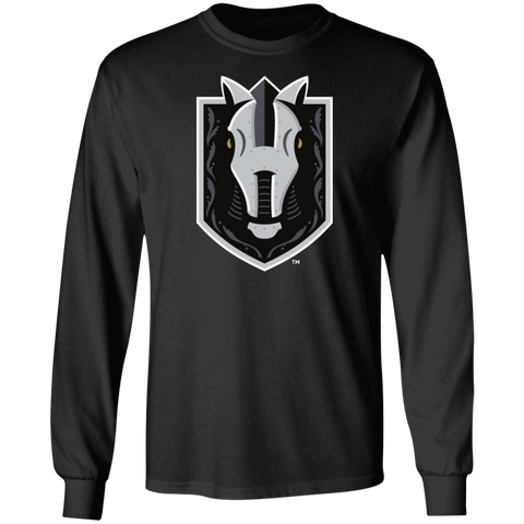 Henderson Silver Knights Adult Primary Logo Long Sleeve Cotton T-Shirt