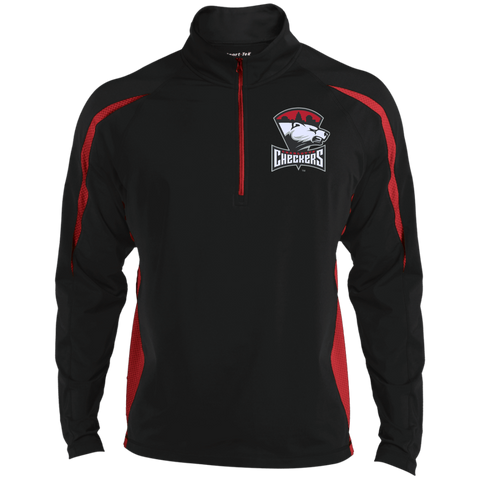 Charlotte Checkers Men's Sport Wicking Colorblock Half-Zip