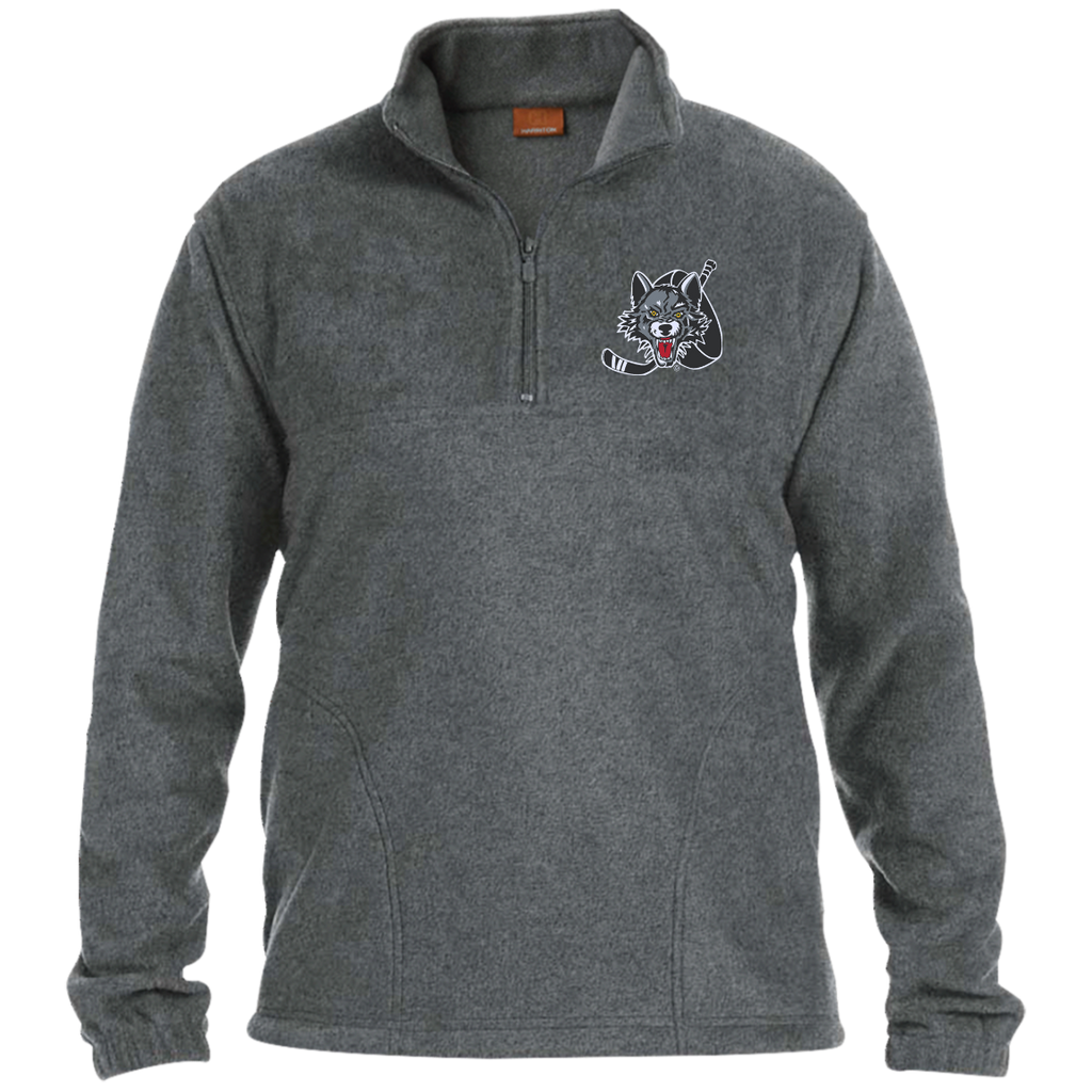 Chicago Wolves Adult Embroidered 1/4 Zip Fleece Pullover