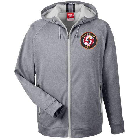 Stockton Heat Team 365 Men's Heathered Performance Hooded Jacket
