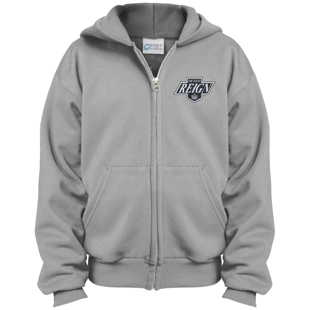 Ontario Reign Youth Embroidered Full Zip Hoodie