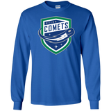 Utica Comets Primary Logo Adult Long Sleeve T-Shirt
