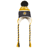 Providence Bruins Winter Hat with Ear Flaps and Braids