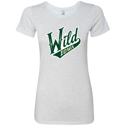 Iowa Wild Next Level Ladies Triblend T-Shirt