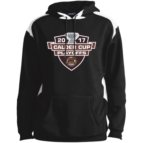 Hershey Bears Adult 2017 Calder Cup Playoffs Shoulder Colorblock Pullover Hoodie