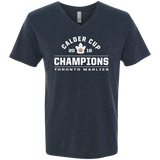 Toronto Marlies 2018 Calder Cup Champions Arch Next Level Men's Triblend V-Neck T-Shirt